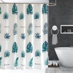 Polyester Tắm Màn Tắm Chống Thấm Nước Rèm Nhà Tắm + Móc Treo