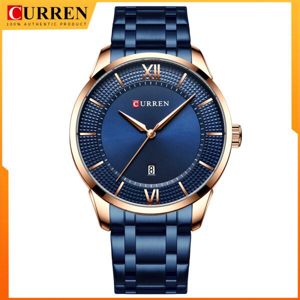 CURREN Men Luxury Business Quartz Watches Mens Clock Stainless Steel Band Fashion Wristwatches 8356 Malaysia