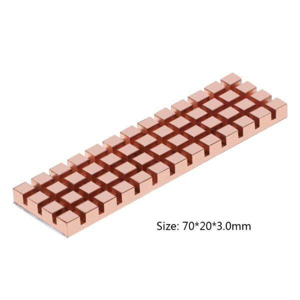 Bảng giá EL Đồng Nguyên Chất Tấm Tản Nhiệt Làm Mát Tản Nhiệt Dẫn Nhiệt Dính Cho M.2 NGFF 2280 PCI-E NVMe SSD 70X20 Mm Độ Dày 1.5/2/3/4 Mm Phong Vũ