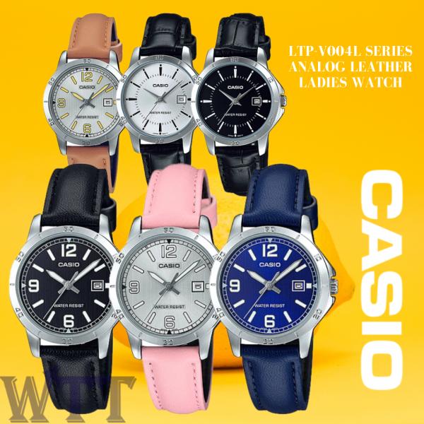 CASIO ORIGINAL LTP-V004L SERIES ANALOG LEATHER LADIES WATCH JAM TANGAN WANITA / JAM TANGAN PEREMPUAN / CASIO WATCH / CASIO WATCH WOMEN / WATCH FOR WOMEN Malaysia