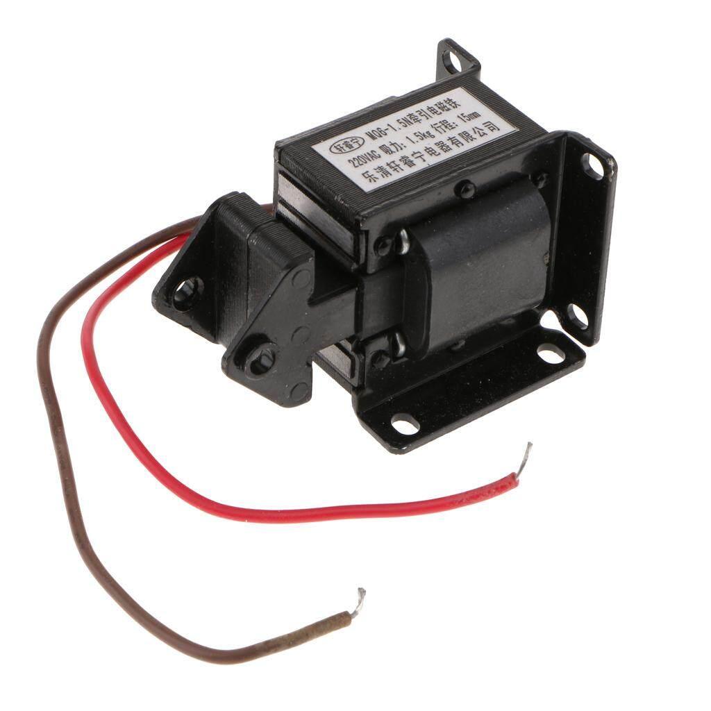 Blesiya MQ6-1.5N/SA-2502 220 V Hemat Energi AC Traksi Elektromagnet Solenoid Hitam