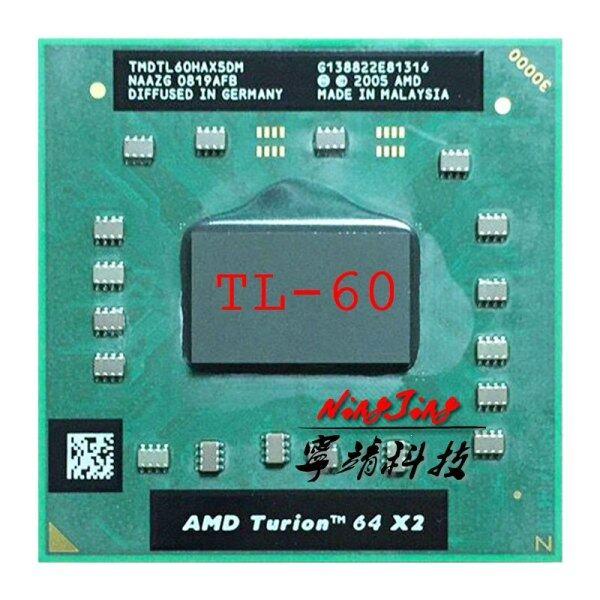 Giá TL-60 Công Nghệ Di Động AMD Turion 64 X2 TL 60 TL60 2.0 GHz, Bộ Xử Lý CPU Hai Nhân, Hai Luồng, Ổ Cắm TMDTL60HAX5DC S1