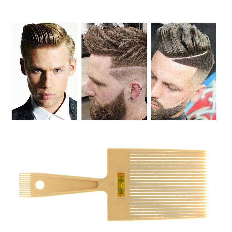 Flat Top Guide Comb with Liquid Bubble Level Flattop Hair Flattopper Beige cao cấp