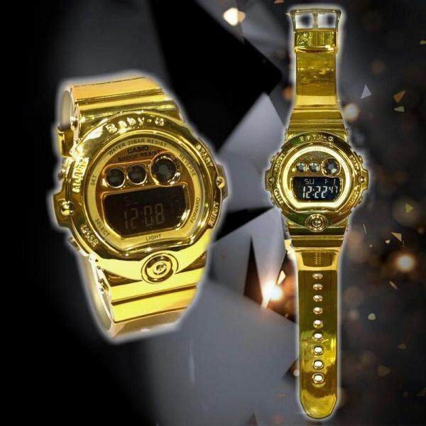 PROMOTION_CASIO_BABY_G_DW_6901 Kilat Tali Digital Time Display Resin Womens Watch Dual New Fashion 100% Mineral Glass New Stock Malaysia