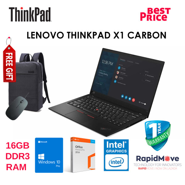 LENOVO THINKPAD X1 CARBON 5TH GEN + FREE GIFT {BEST PRICE} Malaysia