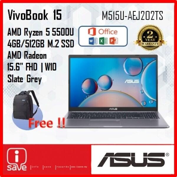 ASUS M515 M515U-AEJ202TS 15.6 FHD LAPTOP - SLATE GREY ( RYZEN 5/4GB/512GB SSD/AMD/W10) Malaysia