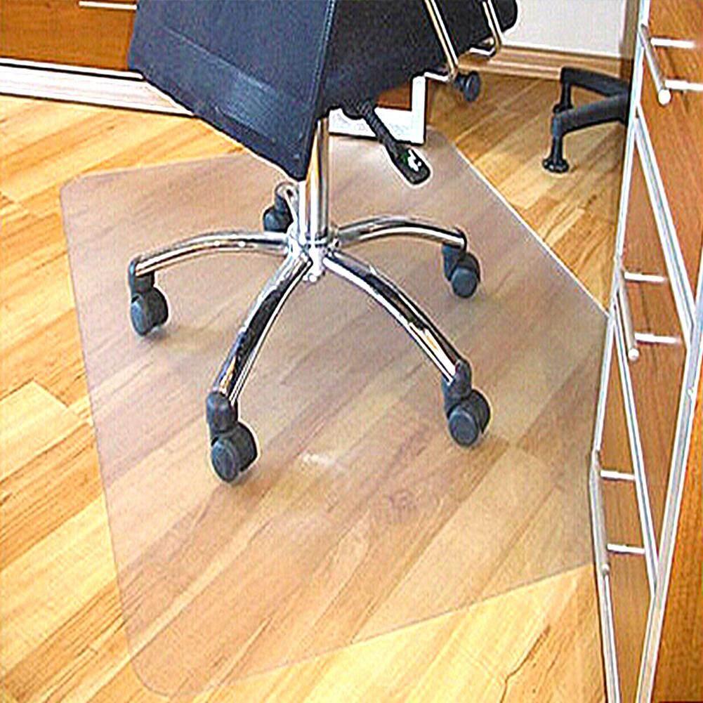 PVC1.5mm Thick Carpet Non-Slip Wear-Resistant Transparent Environmental Friendly Chair Cushion Lip-Shaped Square Floor Carpet Protection Mat