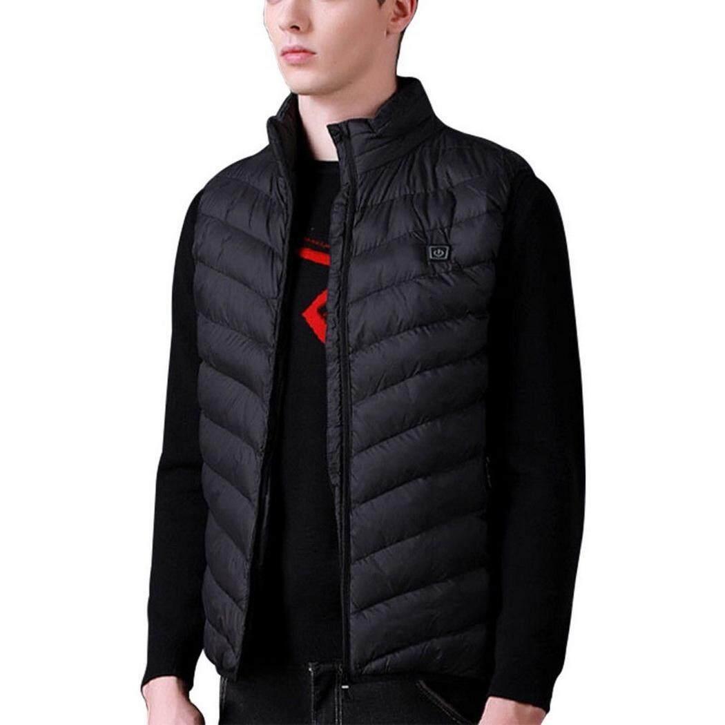 6bfcd55497a Sunweb Men Intelligent Down Cotton Vest Charging Heating Warm Zipper Vest