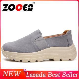 ZOCEN giày bánh mì đế bằng cho nữ giày lười đi hàng ngày - INTL thumbnail