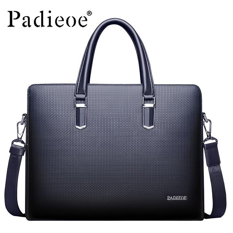 Padieoe 2019 New Design Men Fashionable Shoulder Bags Men Business Men Genuine Leather Fashion Business  Man Bag Tote bag - International