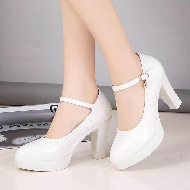 7d6d5101490 China. Fashion Women Ankle Strap High Heels Platform Pumps Shoes Women  Pumps Shoes White