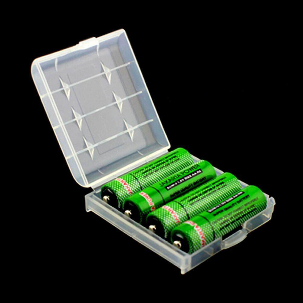EVERSO 5 X 14500 AA AAA Battery Cases Safe Storage Holder Hard Plastic for Rechargeable