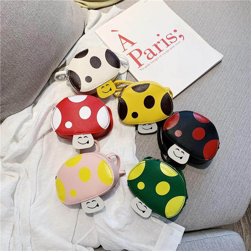 JZB401 Korean version of one-shoulder bag in the summer of 2019 new fashion cute small mushroom bag children's mini-color collision accessories cross bag