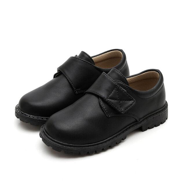 Giày Da Nam Mới, Giày Tiệc Cưới Trẻ Em Phong Cách Anh, Giày Da Đanh Trẻ Em Thường Ngày Màu Đen Size 26-42 giá rẻ