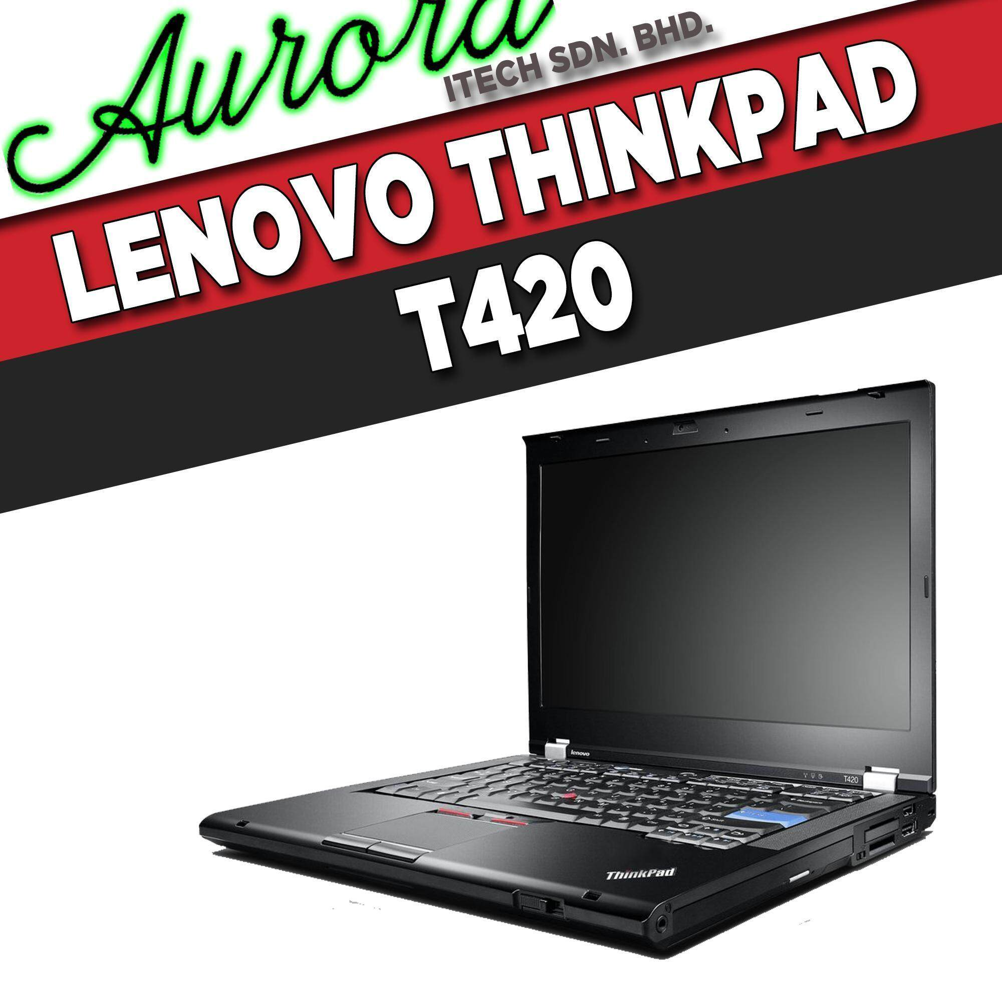 (REFURBISHED)Lenovo ThinkPad T420 / INTEL CORE i5-2520M / 4 GB DDR3 RAM / 250 GB SATA HDD / 14 - INCH LCD / 1 YearWarranty,Free Mouse Malaysia