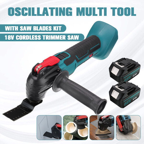 Cordless Oscillating Multi Tool Electric Machine Multi-function Trimmer Saw  Power Oscillating Tool For Makita