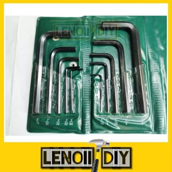 MARKSMAN Set 10pc Chrome Vanadium METRIX / SAE Allen Key Set (AF or mm)