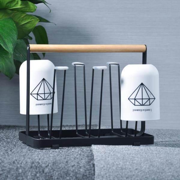 BolehDeals Metal Cup Drainage Rack Mug Holder Kitchen Countertop Storage Stand Shelf