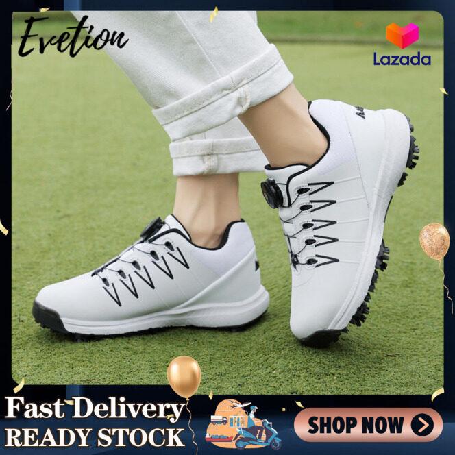 Giày Golf Evetion Giày Thường Ngày Chất Lượng Cao Cho Nam Và Nữ Giày Thể Thao Cỏ Golf Có Khóa Xoay Nhẹ Giày Thể Thao Chống Trượt Giày Golf Màu Đen Và Trắng Giày Tập Luyện Thi Đấu Chuyên Nghiệp giá rẻ