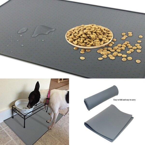 Waterproof Pet Dog Feeding Mat Pad Pet Food Feed Non Slip Placemat