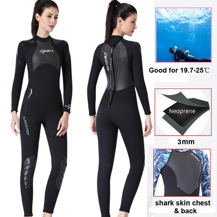 c240a5915ee0 Women and Man Full Wetsuits 3mm Neoprene Wetsuit Back Zip Long Sleeve for  Diving Surfing Snorkeling