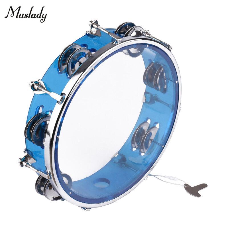Muslady Trống Tay Chuông Tambourine 8 Inch, Với Nhạc Cụ Gõ Hai Hàng