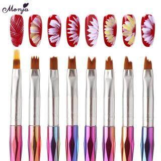 8 Cái bộ Nail Art Cầu Vồng Xử Lý Pháp Mẹo Nụ Cười Hoa Gradient Dần Dần Phai Sơn Vẽ Pen Brush Công Cụ Làm Móng Tay thumbnail