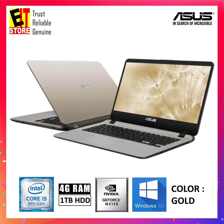 ASUS A407U-FBV046T GOLD (I5-8250U/4GB/1TB/MX130 2GB/14/W10/2YRS) Malaysia