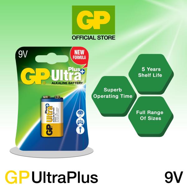 GP Battery Ultra Plus Alkaline 9V (1pc card pack)