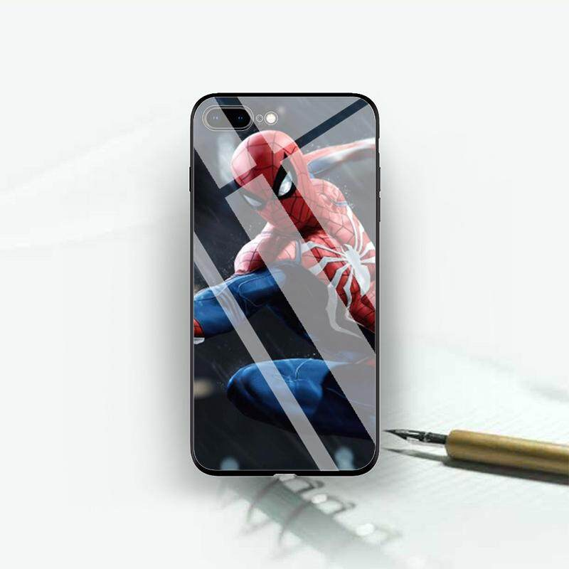 Hawkeye Marvel Comic 9  HD Pattern Glass Mode  Hard Case Untuk iPhone 7 plus/8 plus