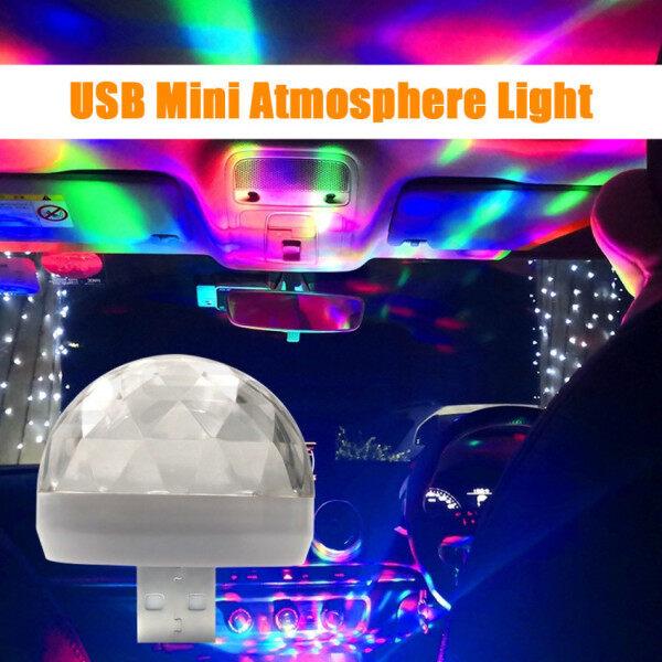 2 Bóng Đèn Vũ Trường Mini USB, Đèn LED Tạo Không Gian Ổ USB Cho Xe Hơi, Đèn Tiệc Kích Hoạt Bằng Âm Thanh, Đèn Nhấp Nháy Ảo Thuật Cầm Tay