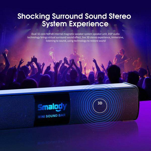 Deyln Portable Wireless Bluetooth Speaker 10W Colorful Led Light Stereo Mini Soundbar Music Player Audio Subwoofer Wireless Speakers