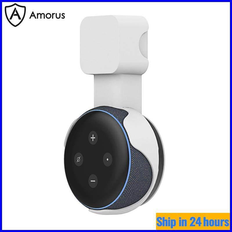 Giá Đỡ Amorus Cho Echo Dot, Gắn Tường Ổ Cắm 3 Giá Đỡ Giắc Cắm Loa Gắn Thông Minh Cho Echo Dot 3