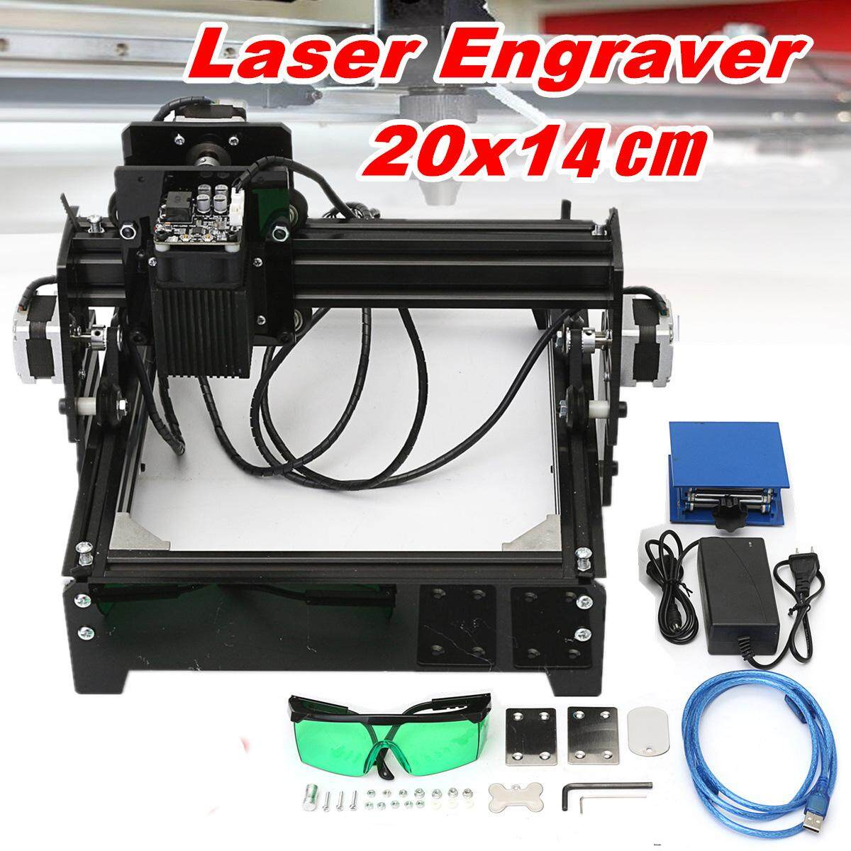 15W 20x14cm Laser Engraver USB Desktop CNC DIY Marking Machine for Iron Metal et