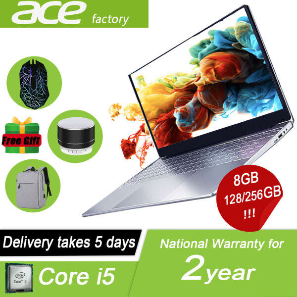【ace factory】Laptops 2021 brand new laptop Win10 system Intel Core i5 CPU 1920x1080 8GB RAM 256GB SSD ultra-thin Traditional Laptops notebook laptop slim laptop for student laptop for office work laptop gaming original murah Malaysia