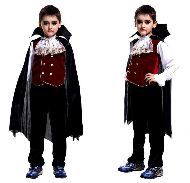 Halloween Boy Costume Lord Ruthven Dracula Vampire Dress Costumes with Cloak