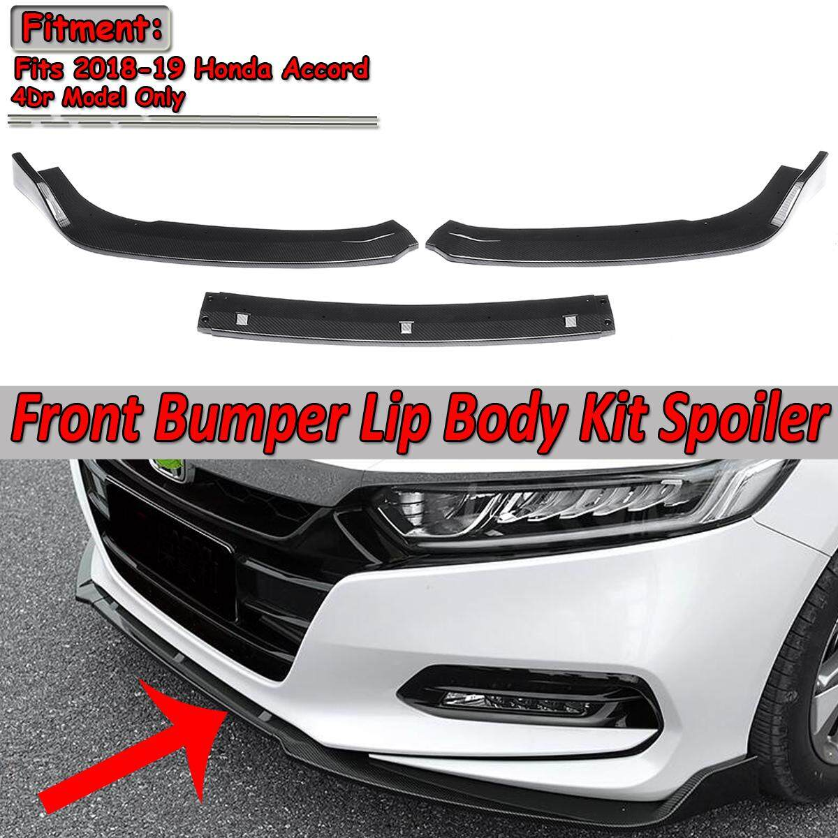 【free Shipping + Flash Deal】carbon Fiber Look Front Bumper Spoiler Guard Chin Lip For 2018 2019 Honda Accord By Audew.