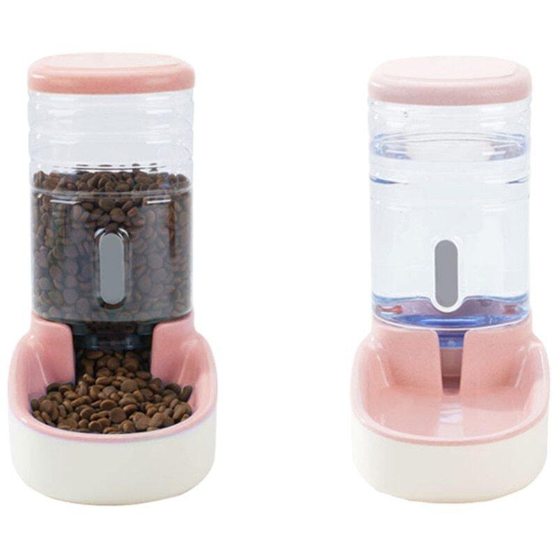 Bình đựng nước cho chó cưng 3,8l, bình rót nước dung tích lớn cho mèo, bình uống nước cho chó, bát uống nước cho động vật, màu xanh lá cây