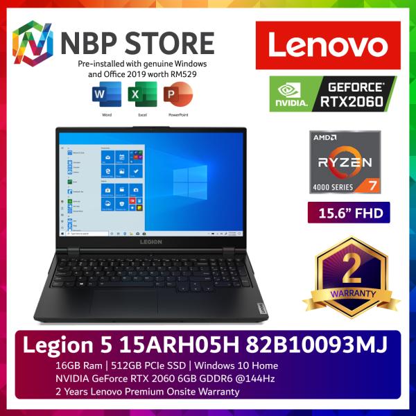 Lenovo Legion 5 15ARH05H 82B10093MJ 15.6 FHD 144Hz Gaming Laptop ( Ryzen 7 4800H, 16GB, 512GB SSD, RTX2060 6GB, W10, HS ) Malaysia