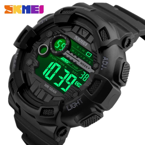 Hot Brands SKMEI Fashion Casual Men Sports Watch 50M Waterproof Backlight LED Digital Watch Chronograph Shock Double Shockproof Multifunction Watch 1243 Malaysia
