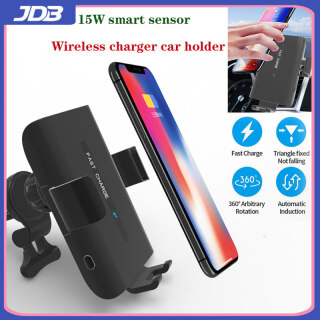 Giá Đỡ Sạc Điện Thoại Trên Xe Hơi JDB 15W Cho IPhone 12 Pro Không Dây Gắn Bảng Điều Khiển Cửa Thoát Khí QI QC3.0 Sạc Cho Iphone Samsung Huawei Kẹp Tự Động Cảm Biến Điện thumbnail