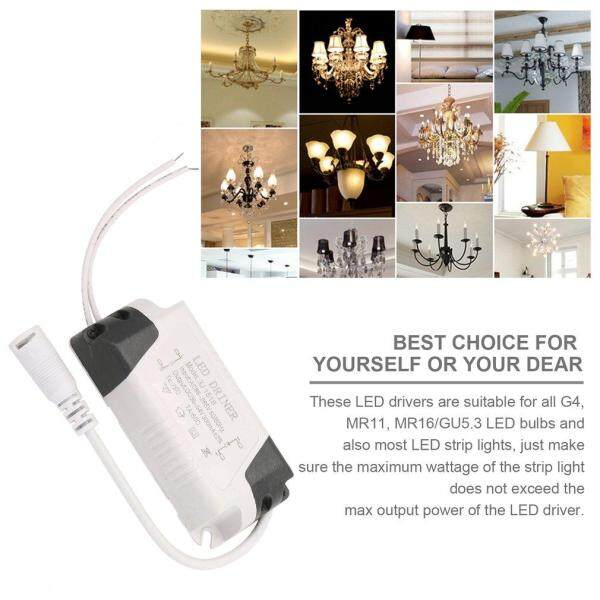 HMENT Dimmable LED L*ght Lamp Driver Transformer p*wer Supply 6W Assure Strip L*ght p*wer External DC Connector Driver