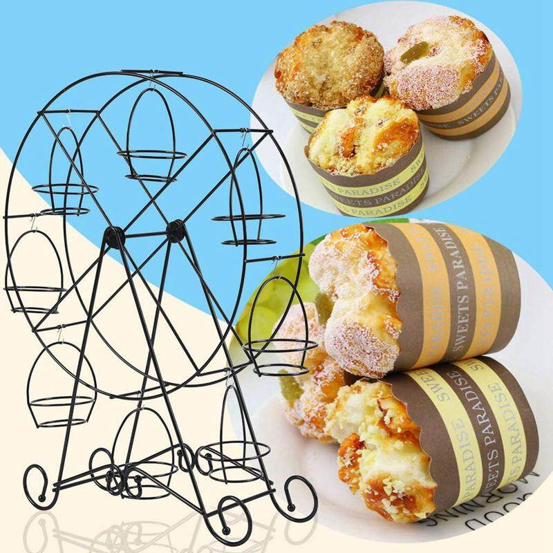 Rotatable Pastry Supplies Party Holder Ferris Wheel Home 8 Cups Cupcake Kitchen Cake Stand