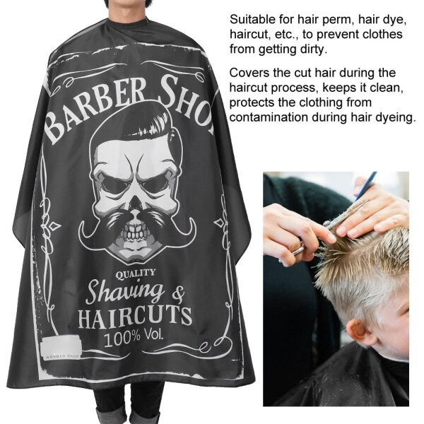 Hairdressing Breathable Apron Hair Cutting Barber Salon Waterproof Gown Cape (160 x 140cm) giá rẻ