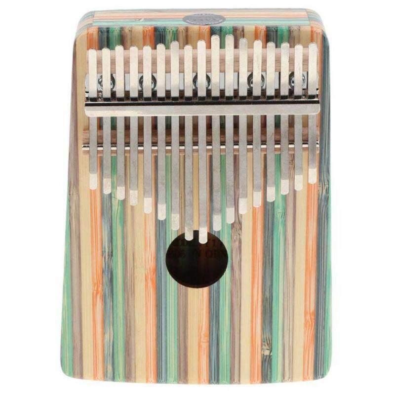 Kalimba 17 Key Thumb Piano Finger Percussion for Children Music Toy Gift - Green Streamline Pattern Malaysia