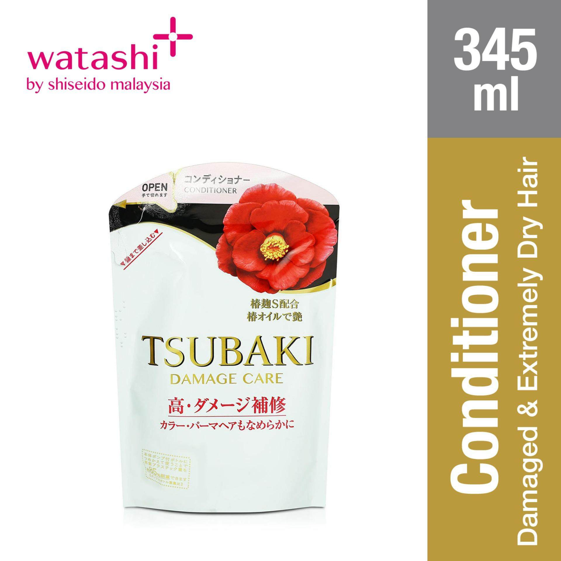 Tsubaki Damage Care Conditioner Refill Pack 345ml By Jbeauty By Shiseido.