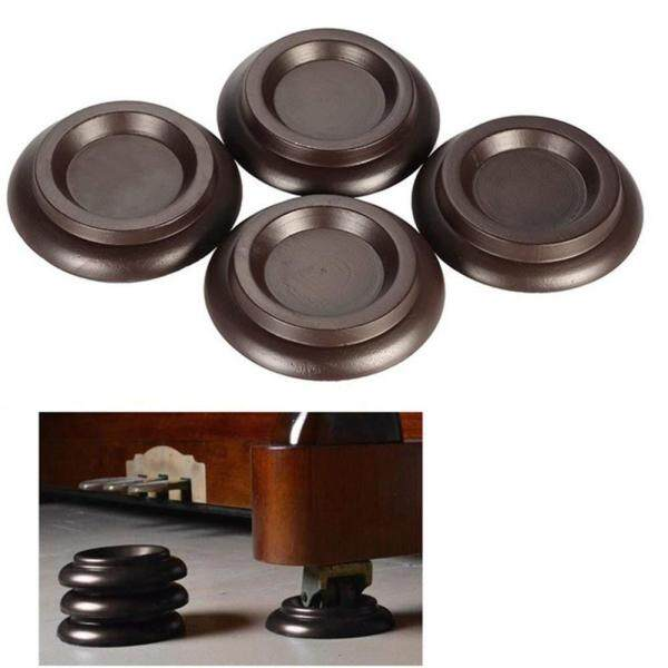 Piano Caster Cups,TOPCHANCES Premium 4 Pcs Upright Piano Caster Pads w/EVA Anti-Slip & Anti-Noise Foam Mat, Solid Wood Coasters Cups Piano Leg Pad for Upright Piano
