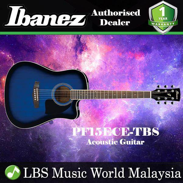 Ibanez PF15ECE-TBS Transparent Blue Sunburst High Gloss Dreadnought Cutaway Acoustic-Electric Guitar (PF15ECE) Malaysia