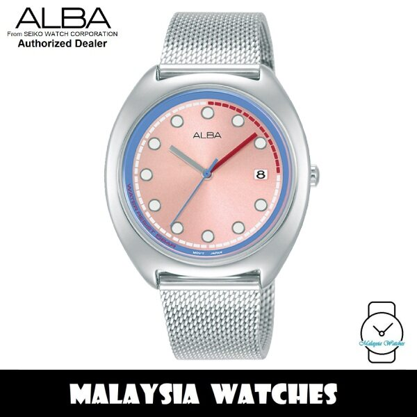 ALBA AG8K45X Fusion Quartz Analog Pink Dial Silver-Tone Stainless Steel Watch AG8K45 AG8K45X1 (from SEIKO Watch Corporation) Malaysia