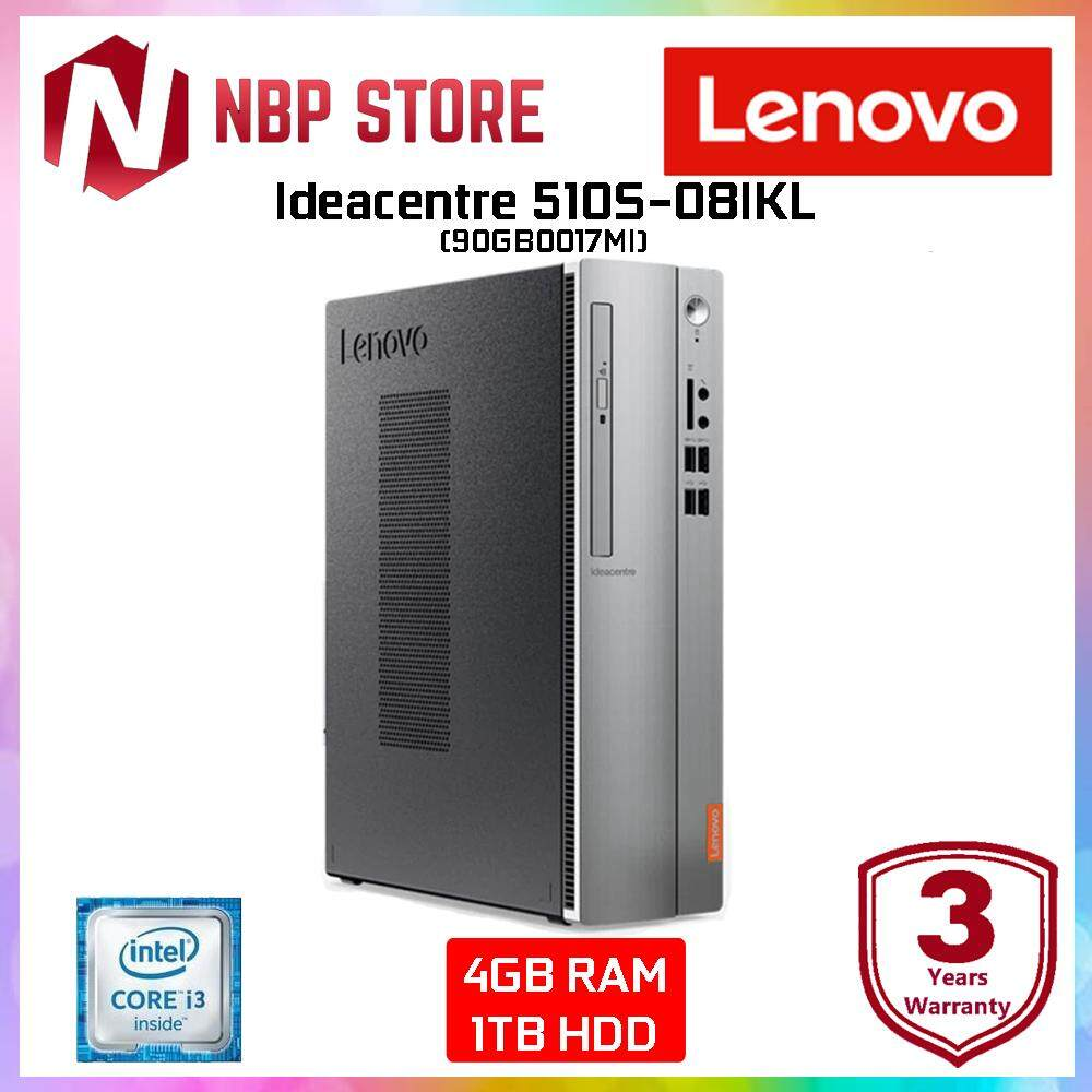 Lenovo Ideacentre 510S-08IKL SFF 90GB0017MI Desktop PC (i3-7100, 4GB, 1TB,  Intel  W10H)